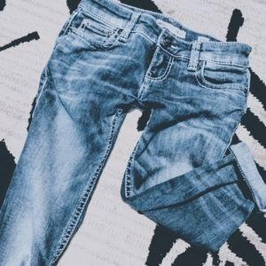 BKE Stella rolled cuffed capri jeans Size 23R